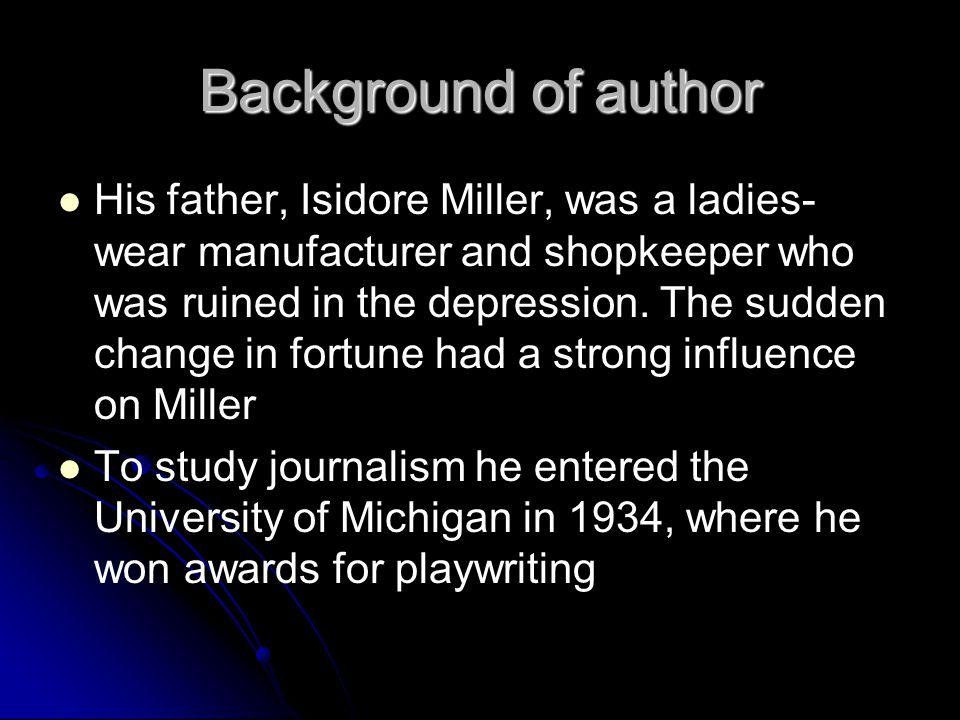 Background of author