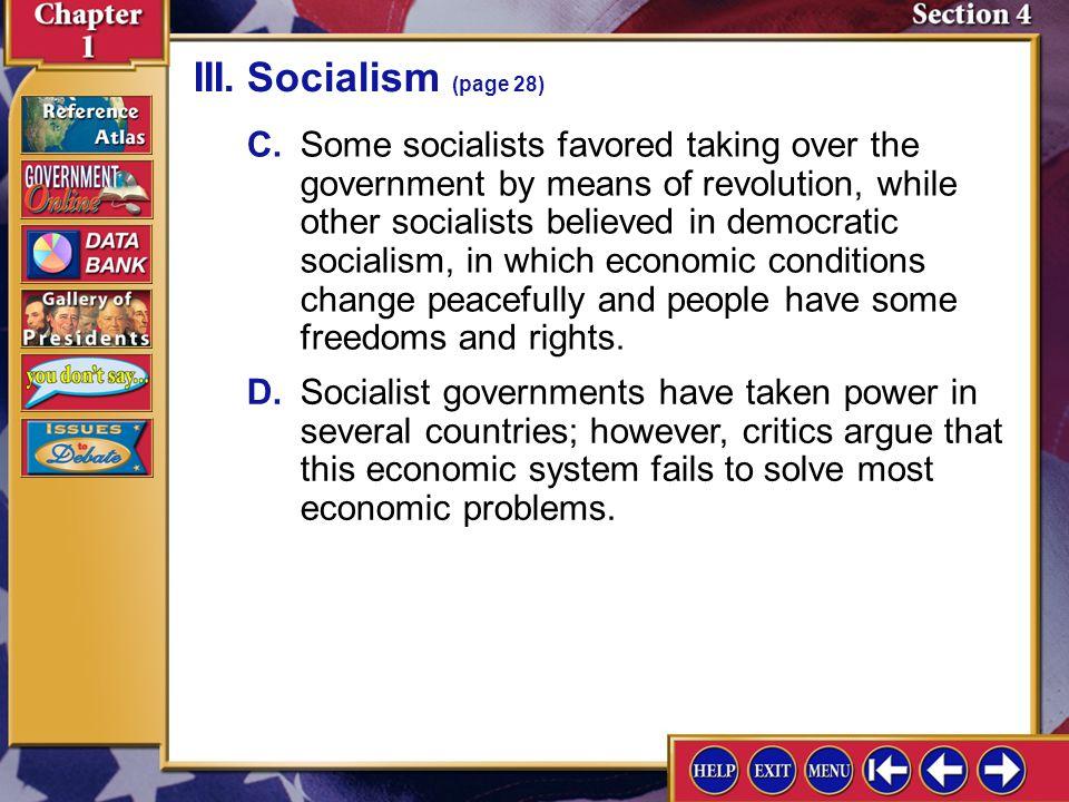 III. Socialism (page 28)