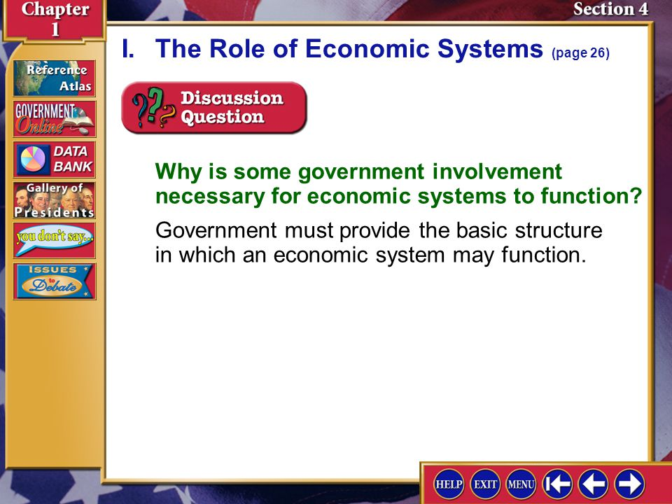 I. The Role of Economic Systems (page 26)