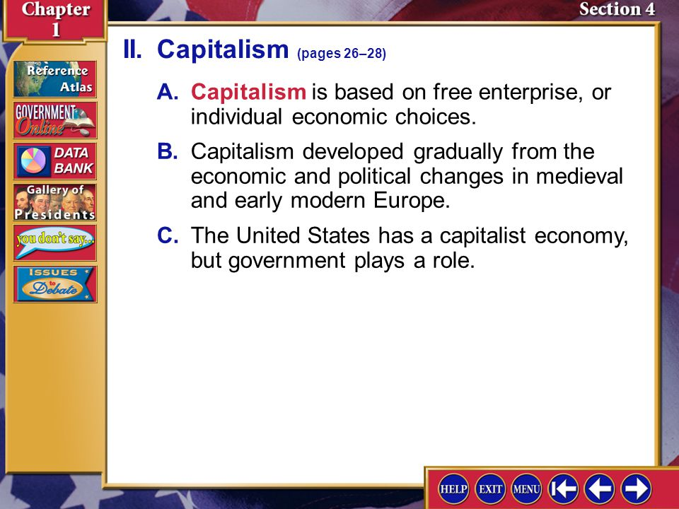 II. Capitalism (pages 26–28)
