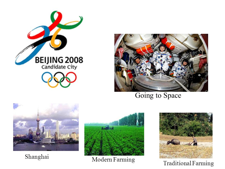 Going to Space Shanghai Modern Farming Traditional Farming