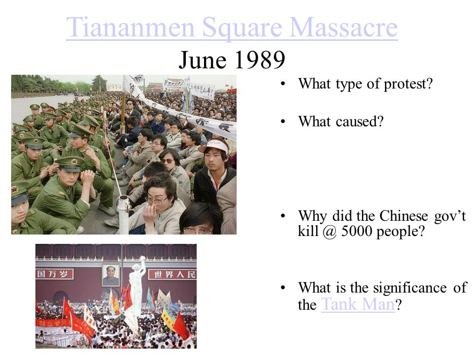 Tiananmen Square Massacre June 1989