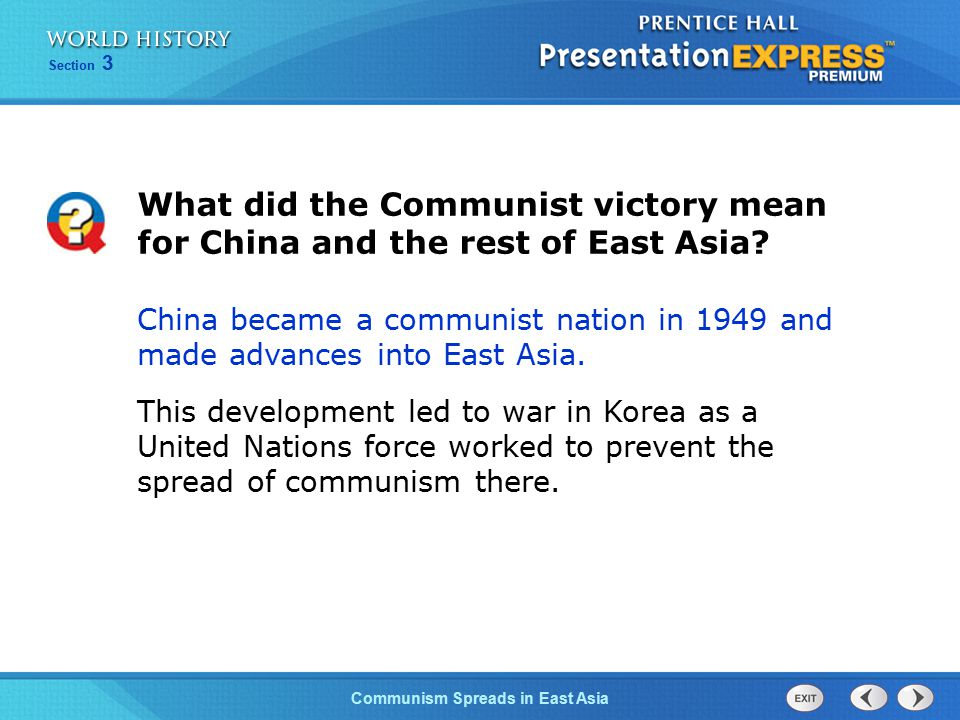 What did the Communist victory mean for China and the rest of East Asia