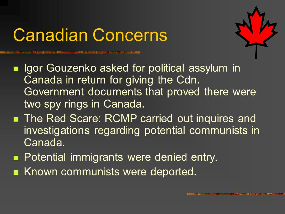 Canadian Concerns