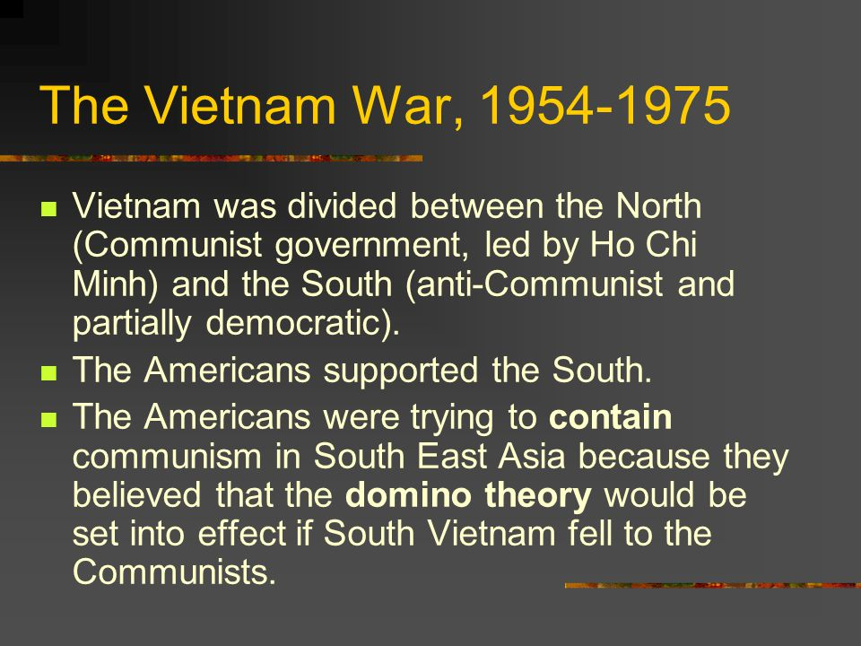 The Vietnam War, 1954-1975