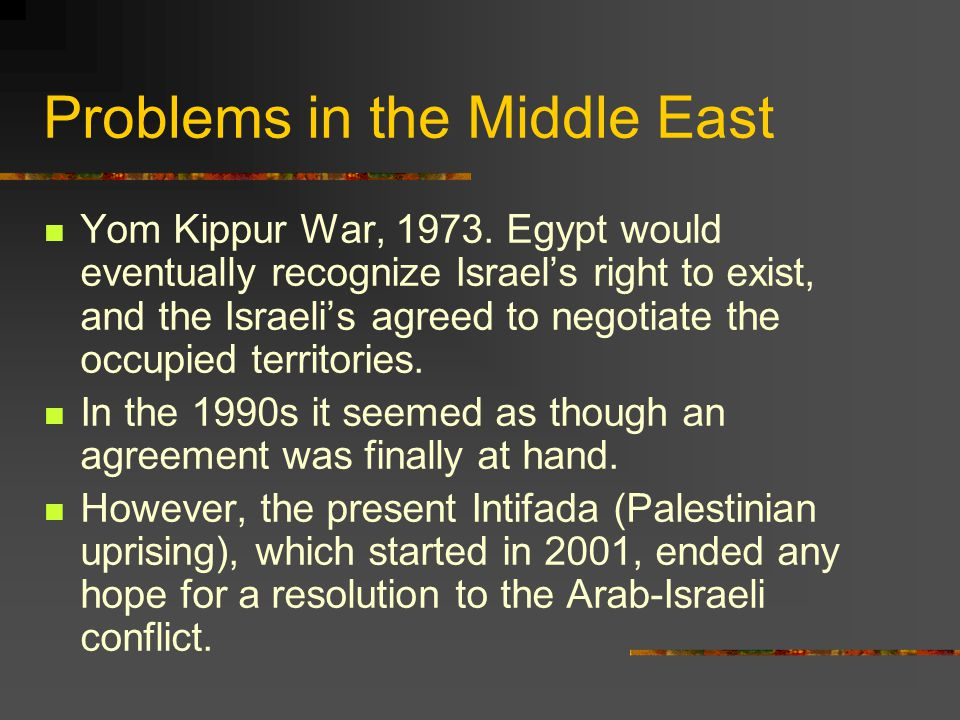 Problems in the Middle East
