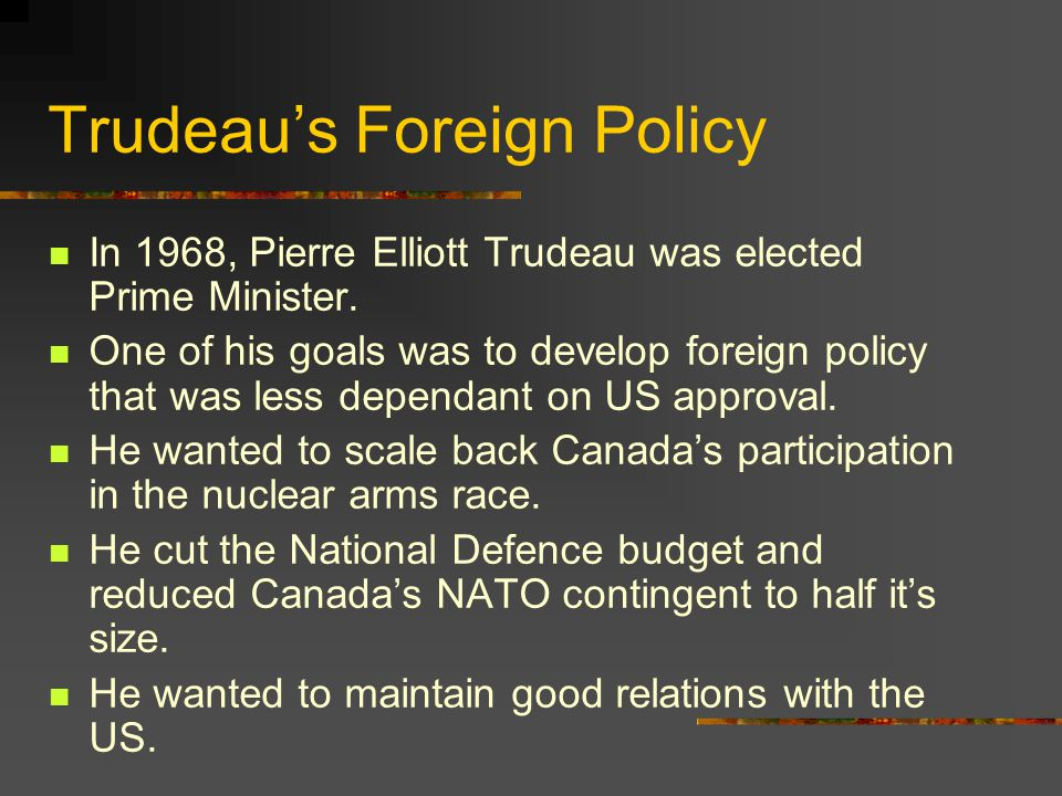 Trudeau's Foreign Policy