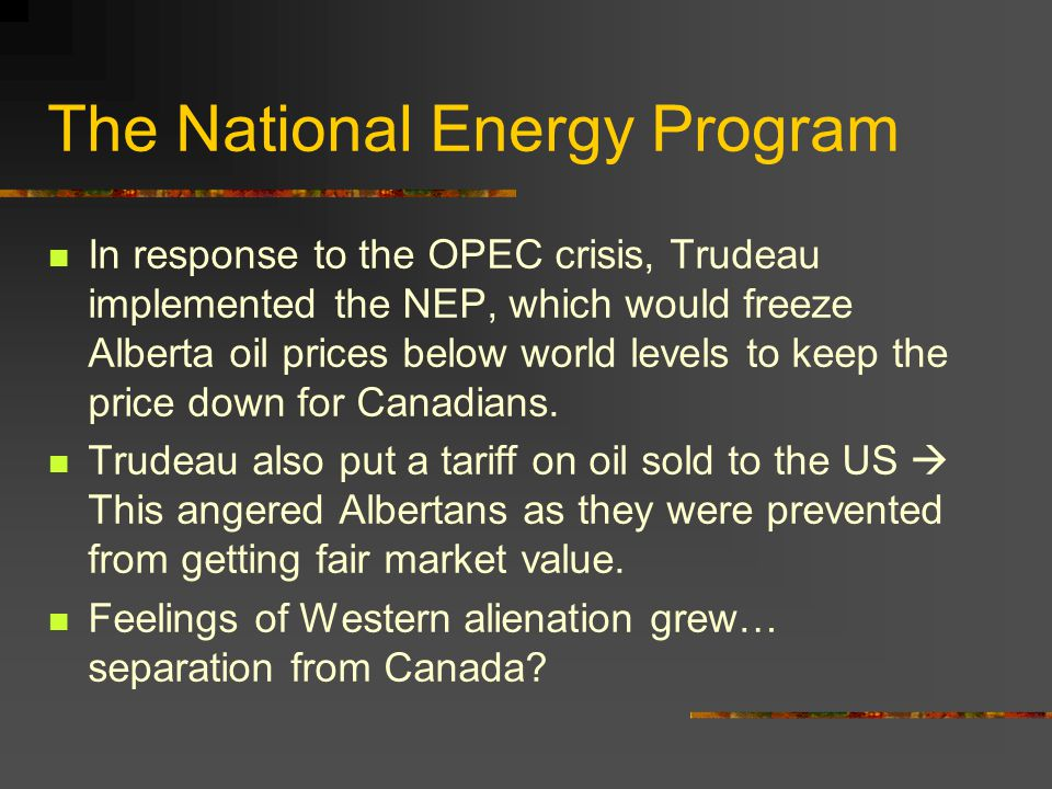 The National Energy Program