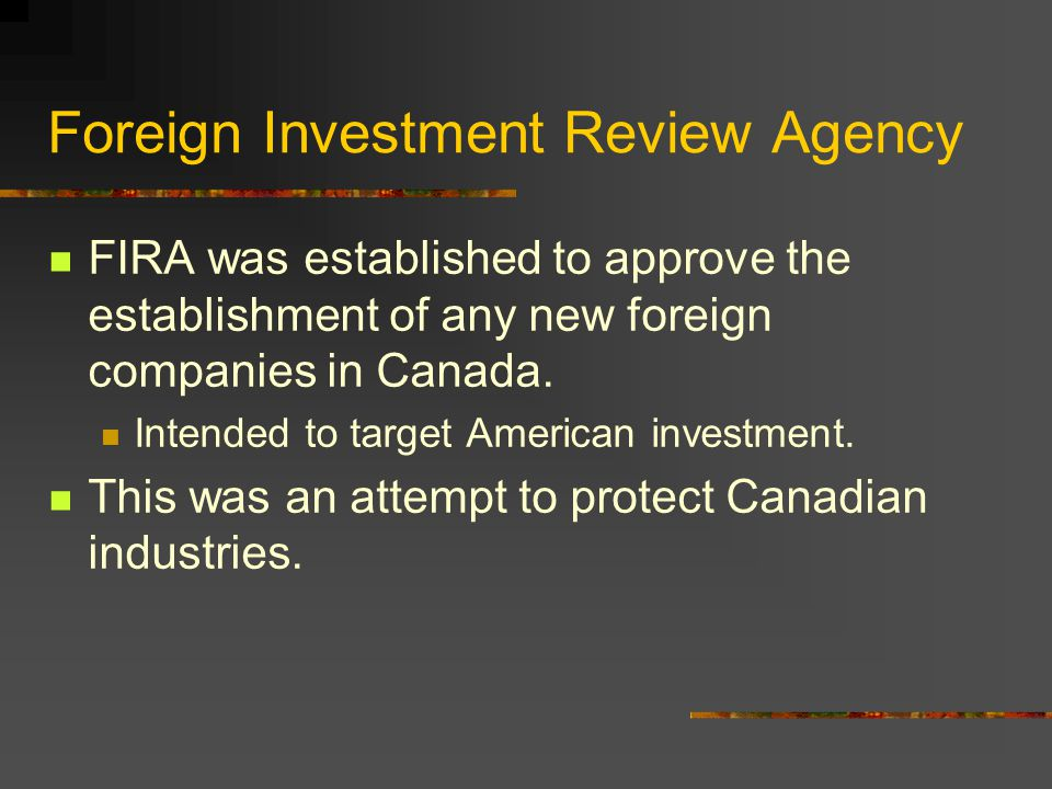 Foreign Investment Review Agency