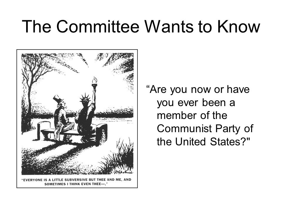 The Committee Wants to Know