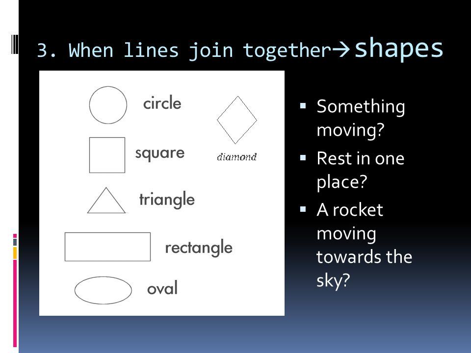 3. When lines join together shapes