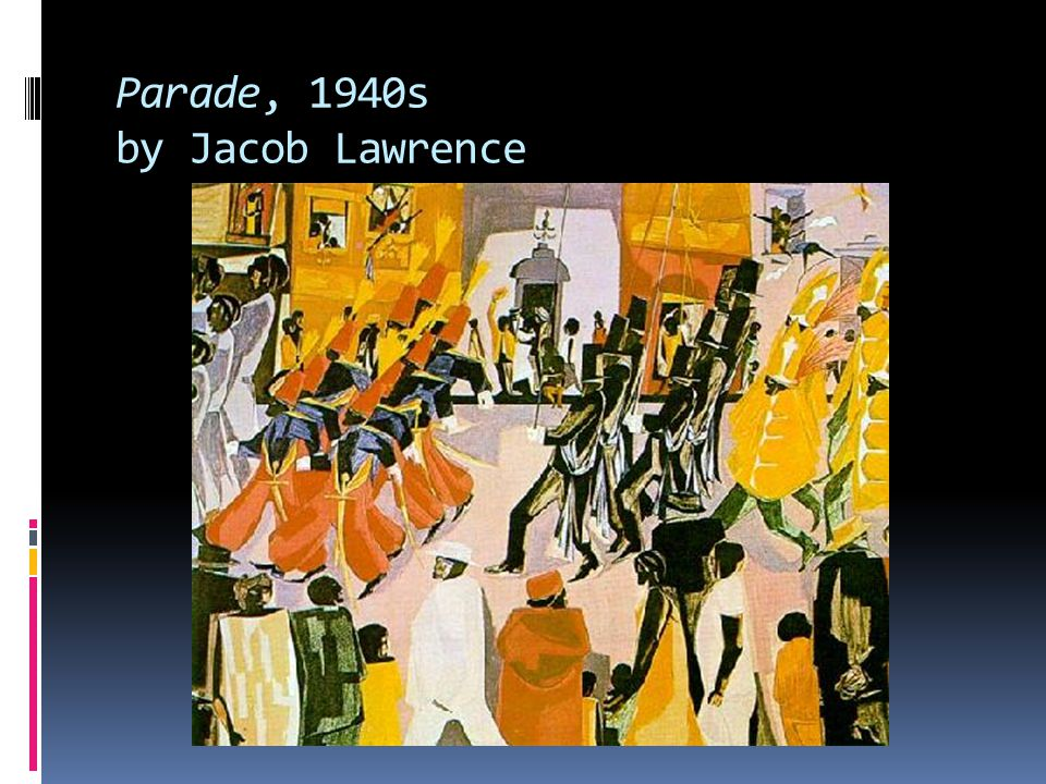 Parade, 1940s by Jacob Lawrence
