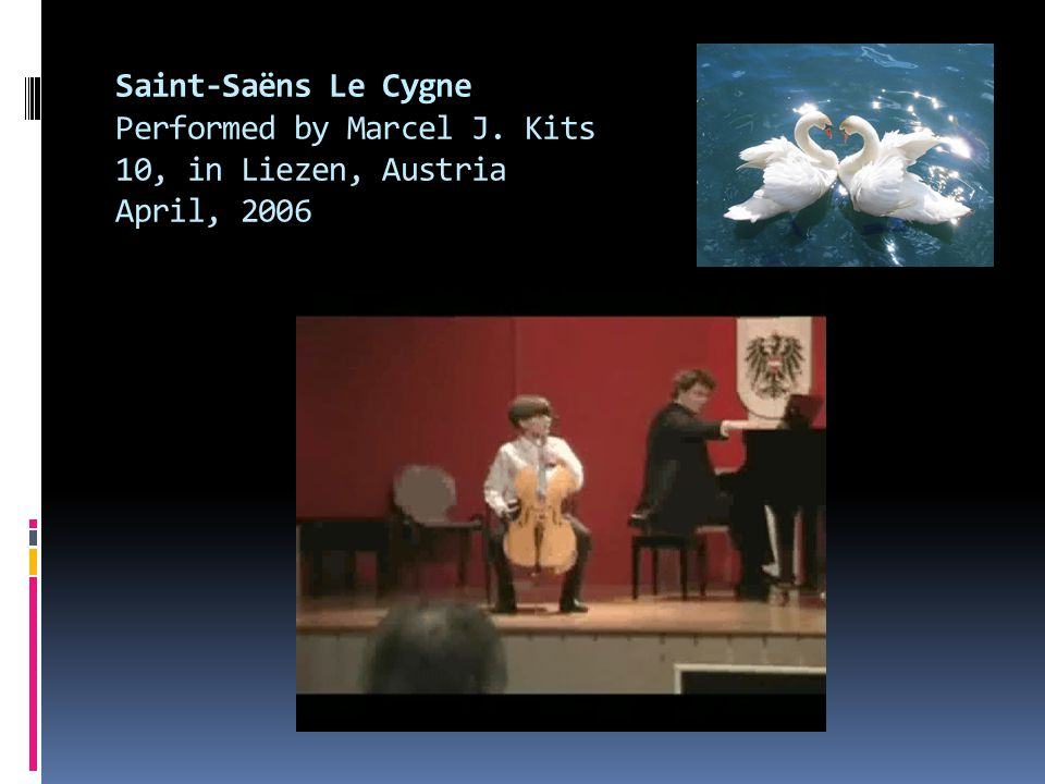 Saint-Saëns Le Cygne Performed by Marcel J