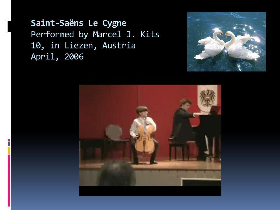 Saint-Saëns Le Cygne Performed by Marcel J