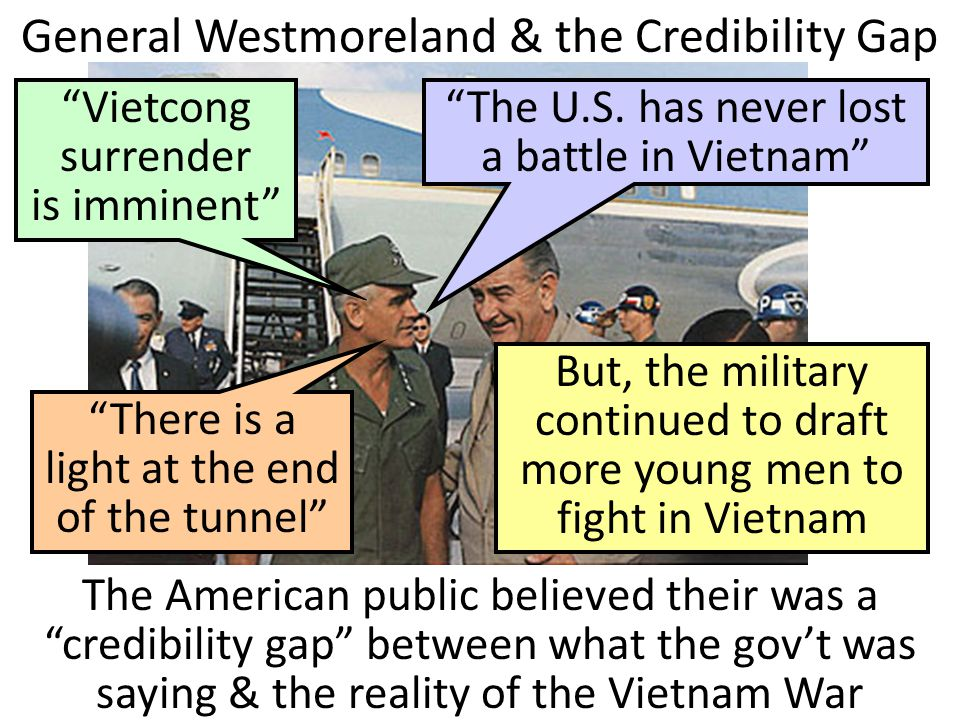General Westmoreland & the Credibility Gap