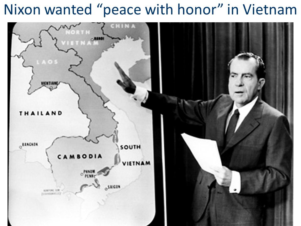 Nixon wanted peace with honor in Vietnam