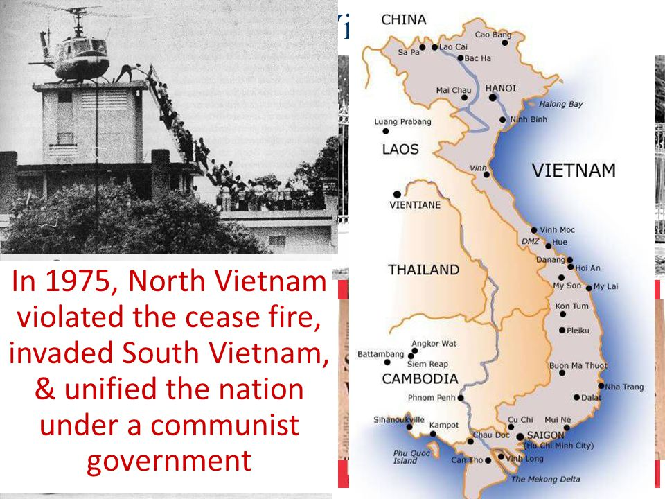 Ending the Vietnam War In 1973, the U.S. & North Vietnam agreed to a cease fire & the U.S. withdrew troops from Vietnam.