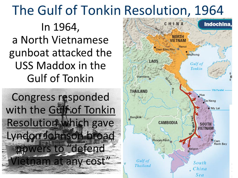 The Gulf of Tonkin Resolution, 1964