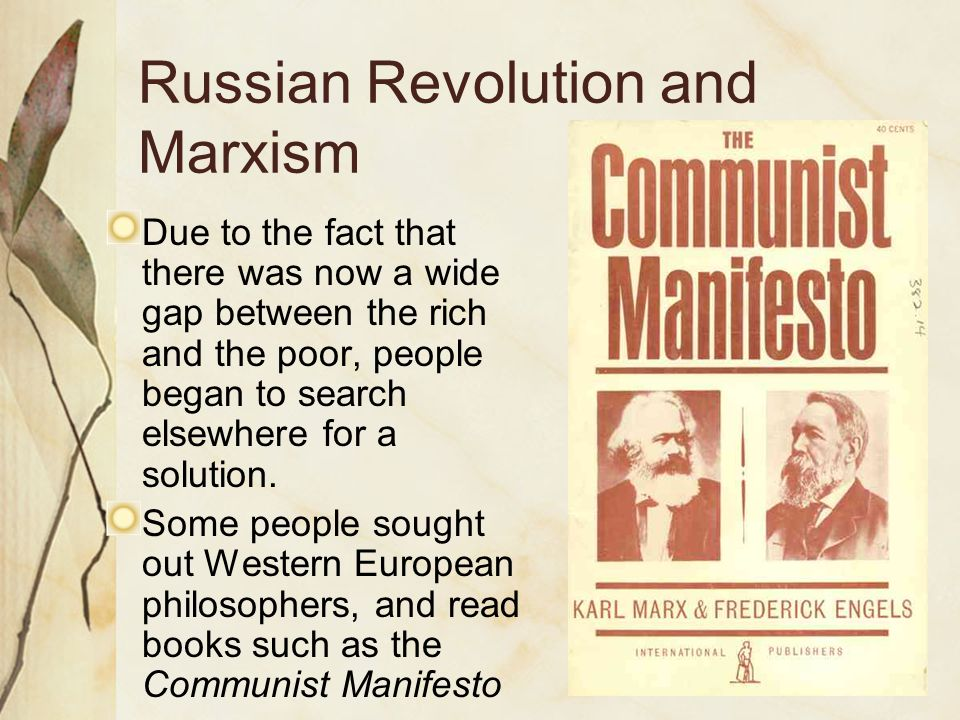 Russian Revolution and Marxism