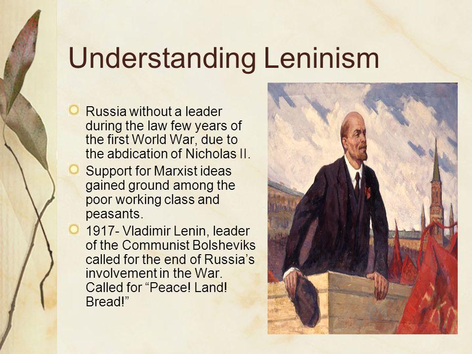 Understanding Leninism
