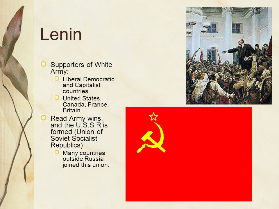 Lenin Supporters of White Army: