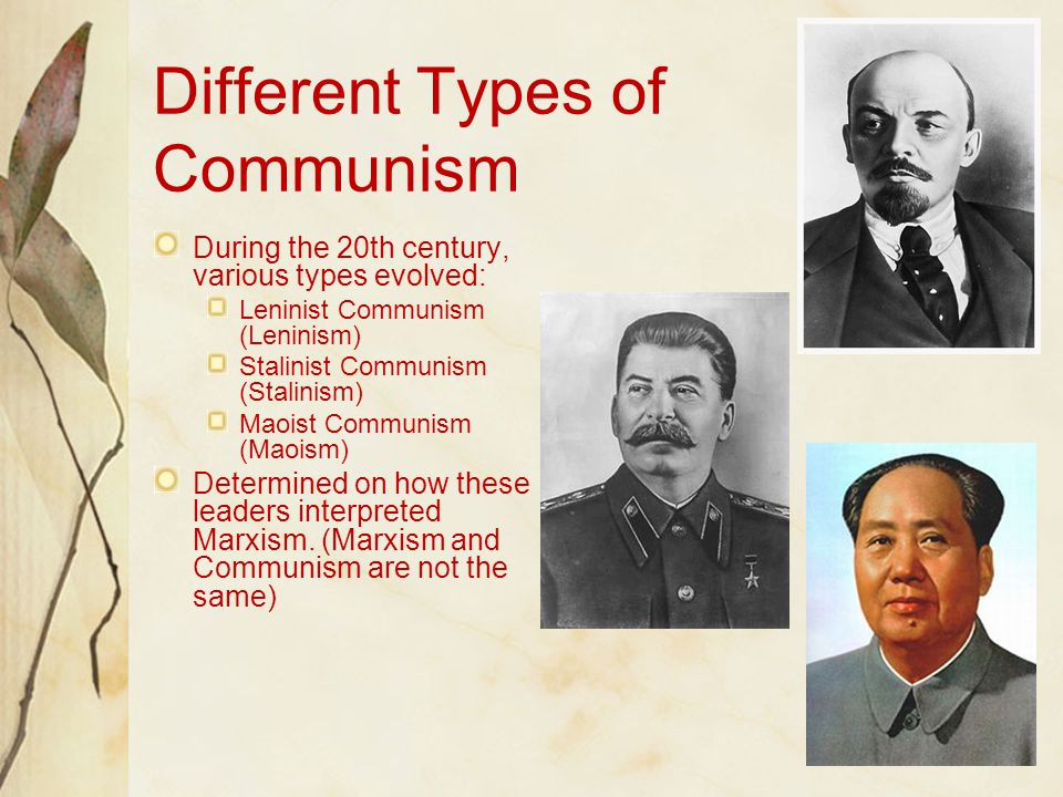 Different Types of Communism