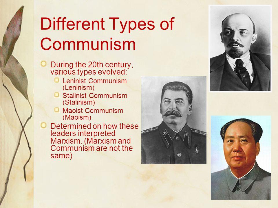 Different Types of Communism