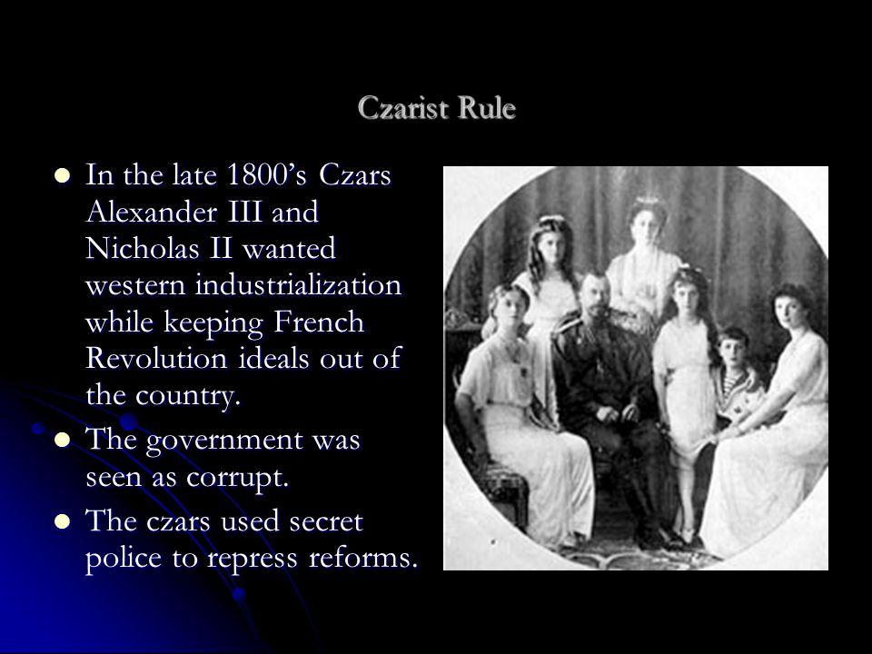 Czarist Rule