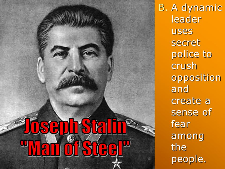 Joseph Stalin Man of Steel
