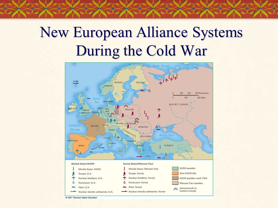 New European Alliance Systems During the Cold War