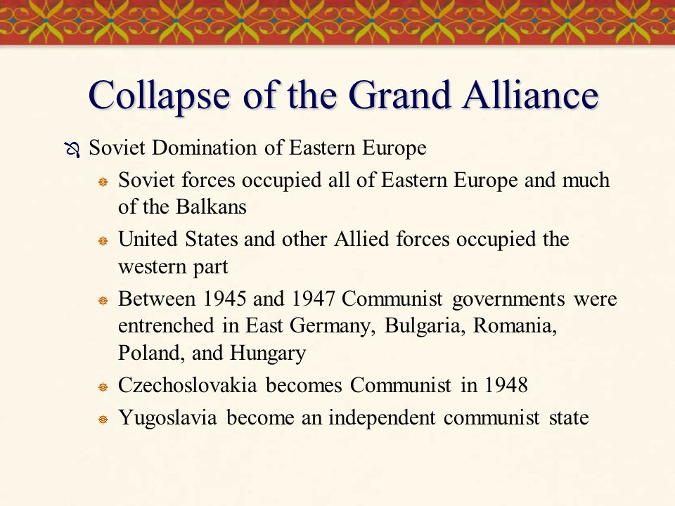 Collapse of the Grand Alliance