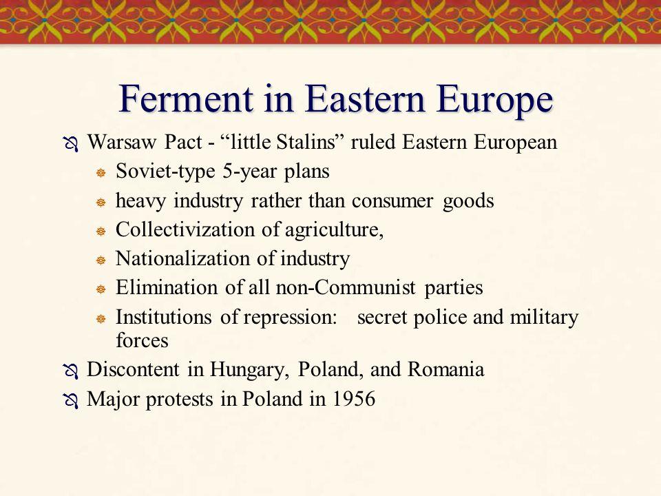 Ferment in Eastern Europe