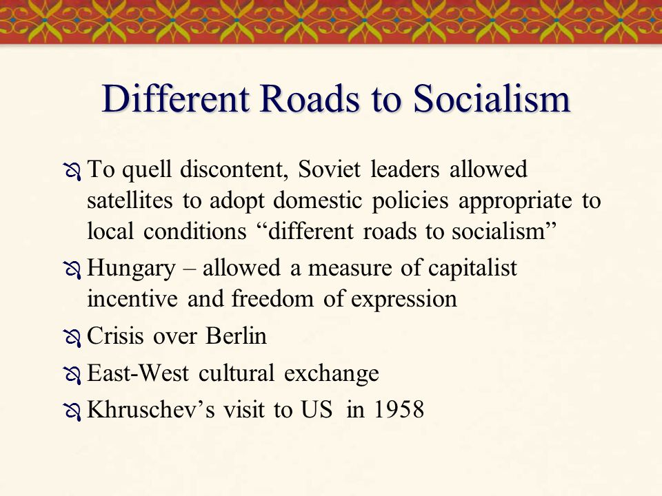 Different Roads to Socialism