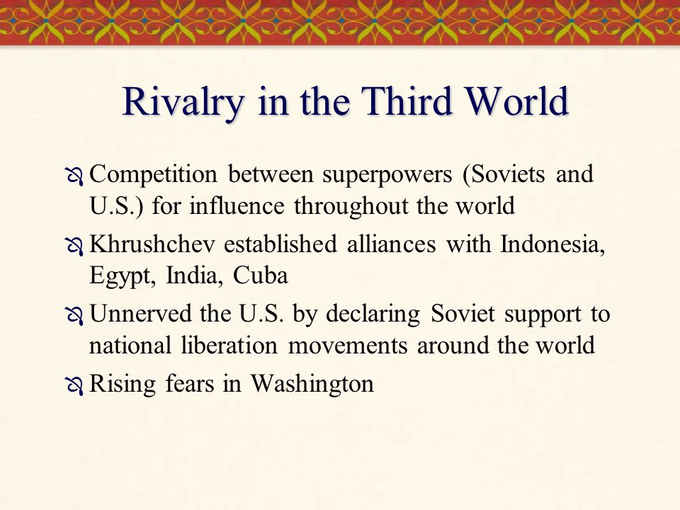 Rivalry in the Third World