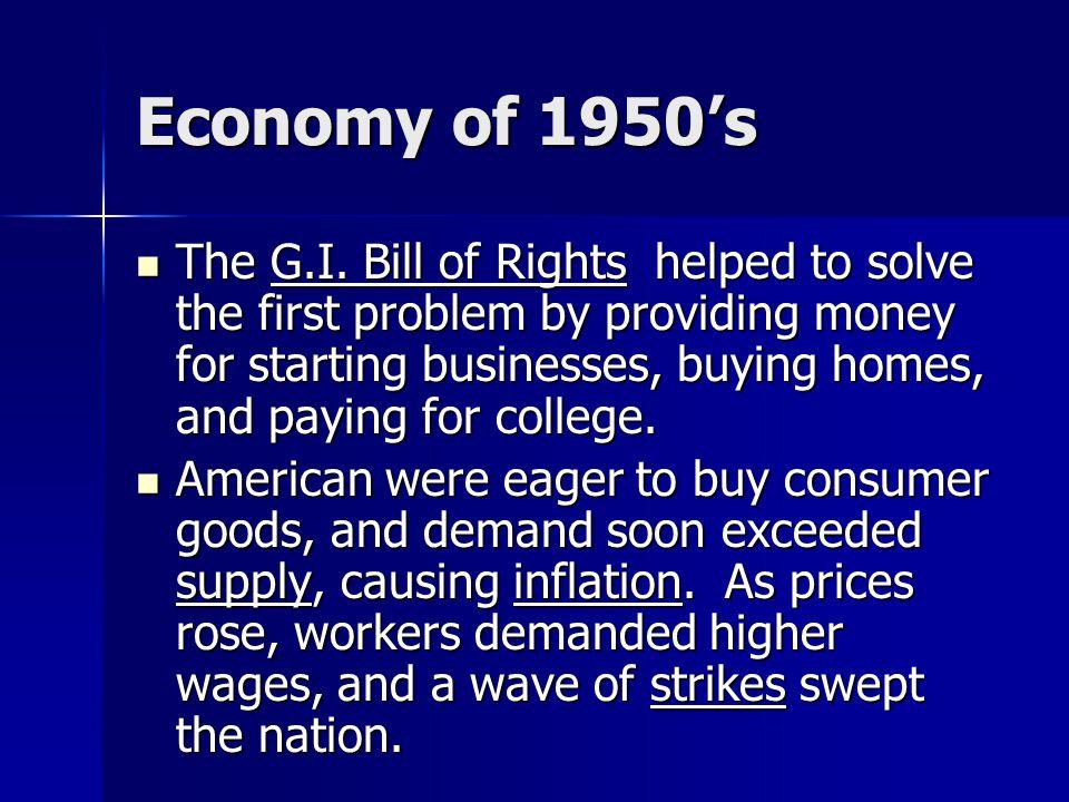 Economy of 1950's