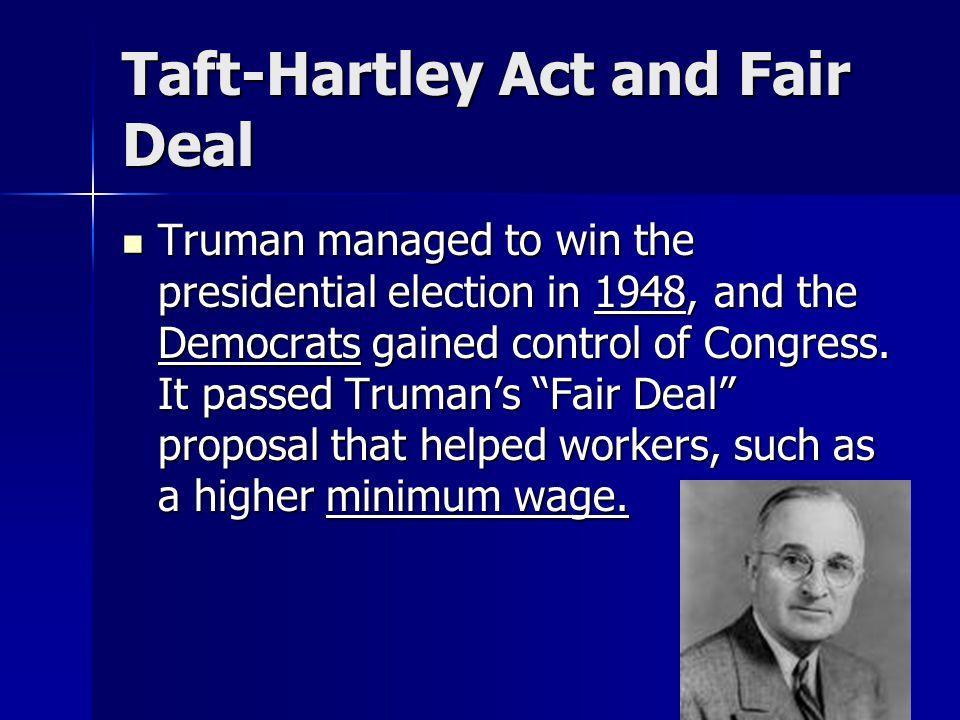 Taft-Hartley Act and Fair Deal