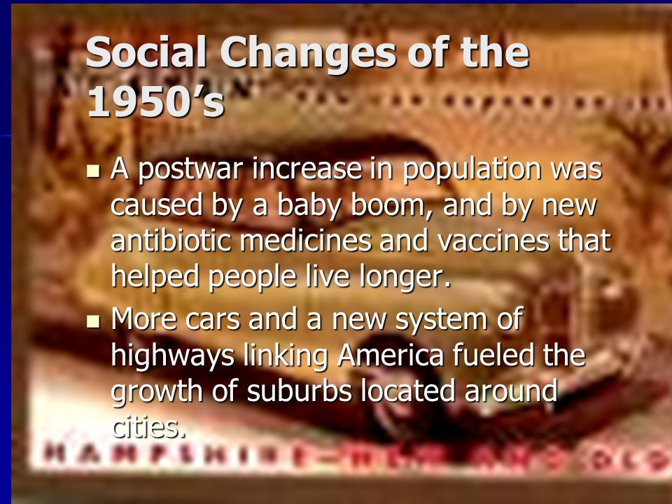 Social Changes of the 1950's