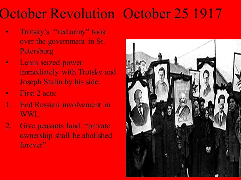 October Revolution October 25 1917