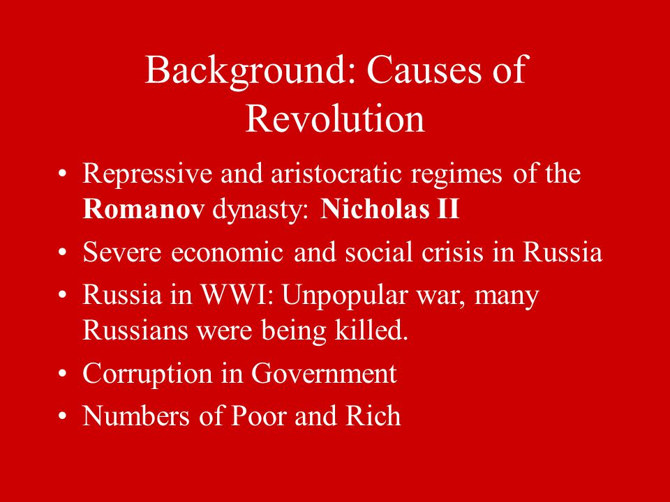 Background: Causes of Revolution