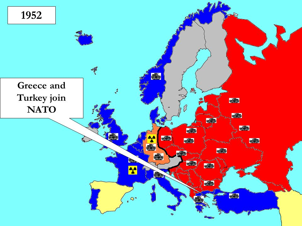 Greece and Turkey join NATO
