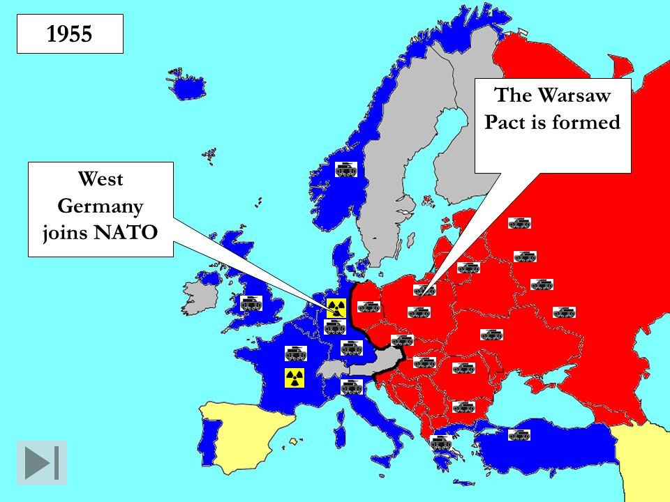 The Warsaw Pact is formed West Germany joins NATO