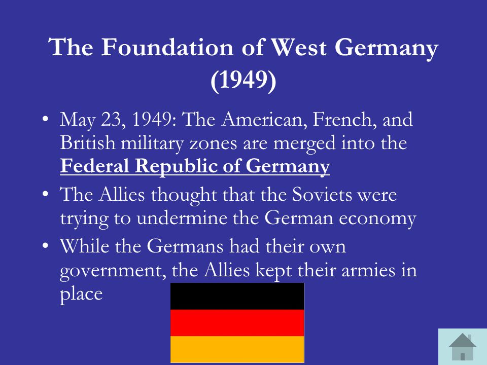 The Foundation of West Germany (1949)
