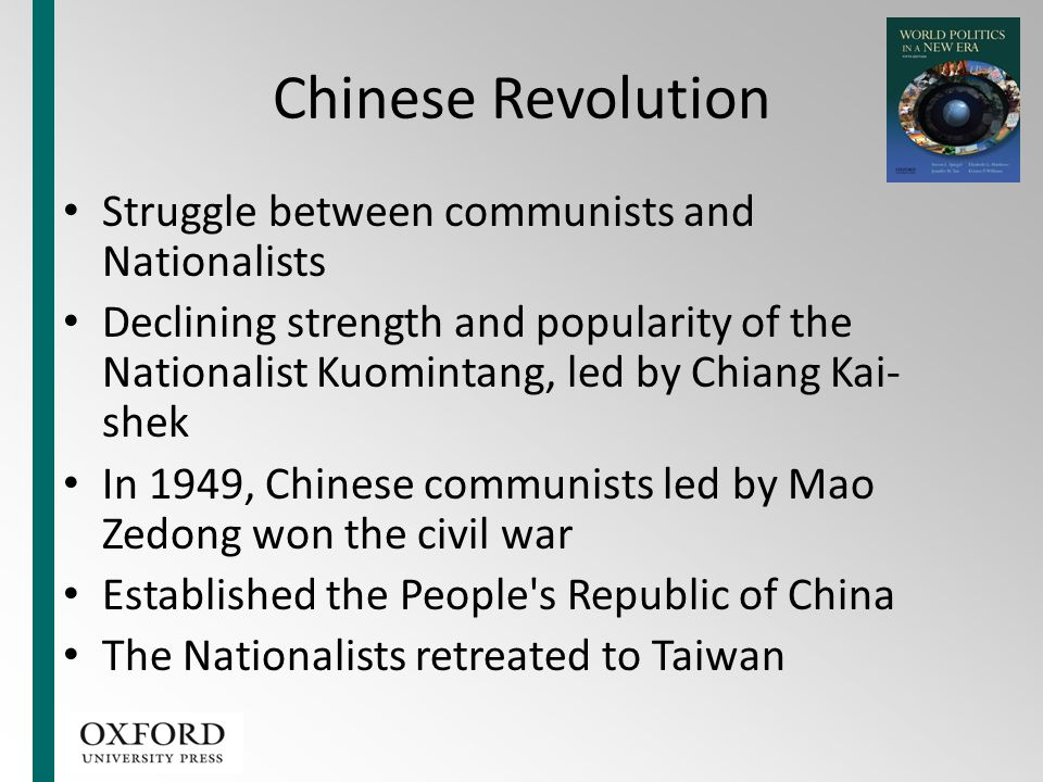 Chinese Revolution Struggle between communists and Nationalists