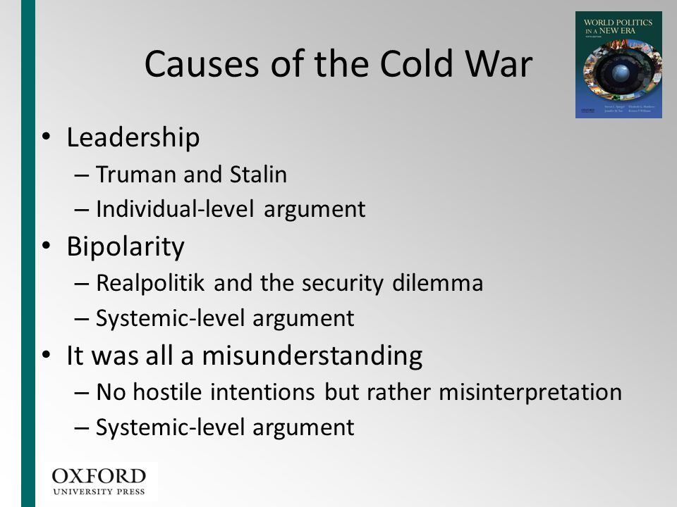 Causes of the Cold War Leadership Bipolarity