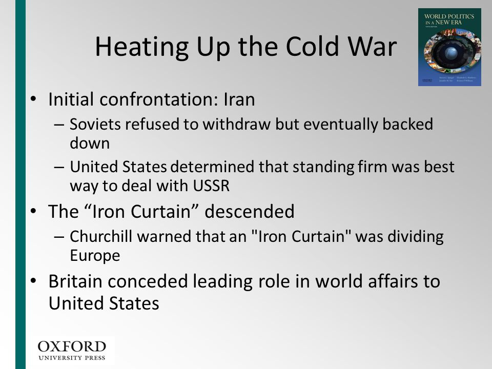 Heating Up the Cold War Initial confrontation: Iran