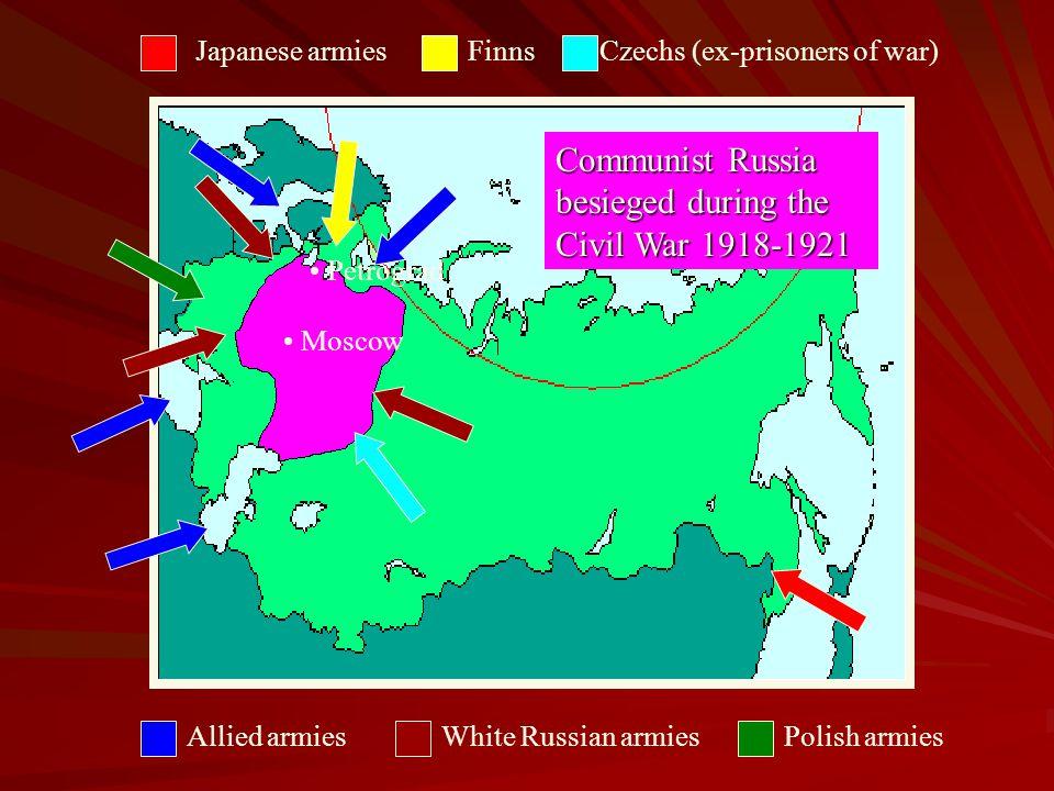 Communist Russia besieged during the Civil War 1918-1921
