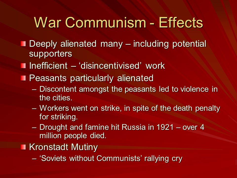War Communism - Effects