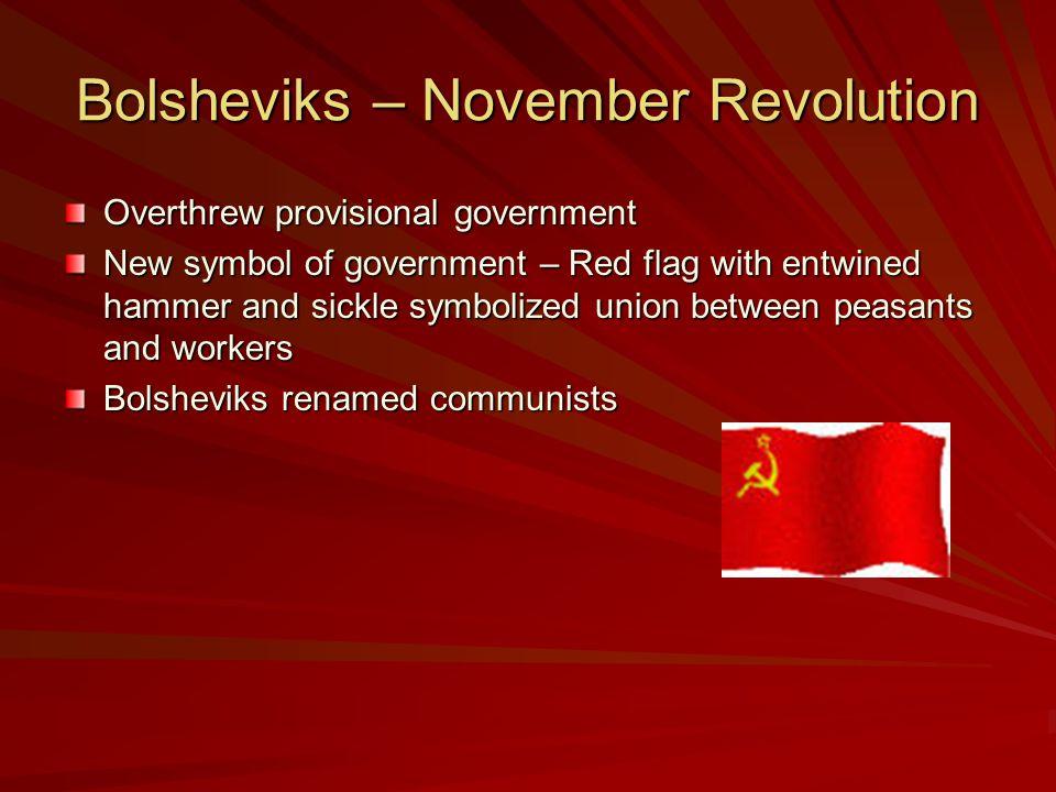 Bolsheviks – November Revolution