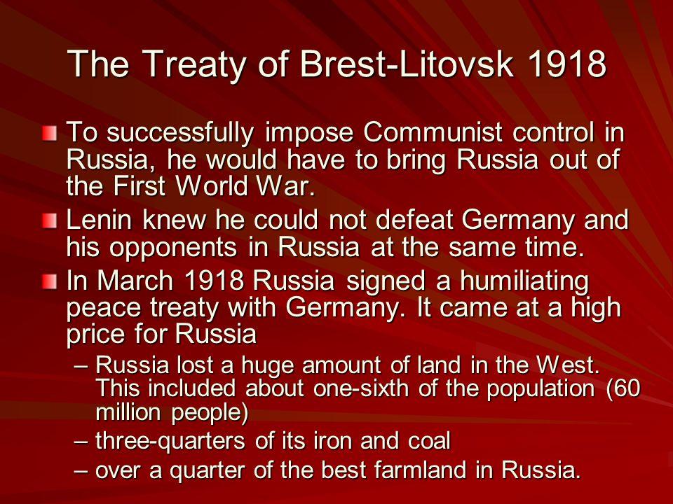 The Treaty of Brest-Litovsk 1918