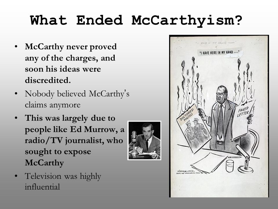 What Ended McCarthyism